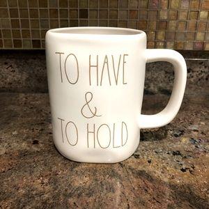 """RAE DUNN """"To Have & To Hold"""" 16oz Mug"""
